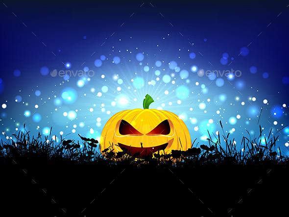 Halloween Pumpkin Background - Halloween Seasons/Holidays