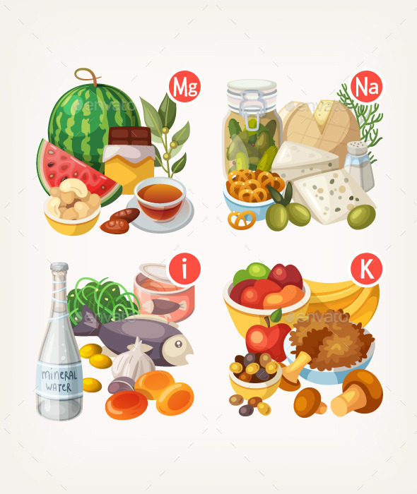 Products Rich with Vitamins and Minerals - Food Objects