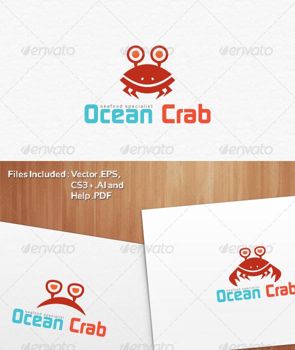 Ocean Crab Mascot Logo Templates - Animals Logo Templates