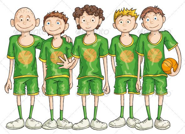 Basketball Team - Sports/Activity Conceptual