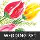 Painted Tulips Wedding Set - GraphicRiver Item for Sale