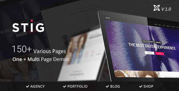 Stig – Multipurpose One/Multi Page Joomla Template