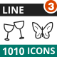 1010 Vector Line Icons - GraphicRiver Item for Sale