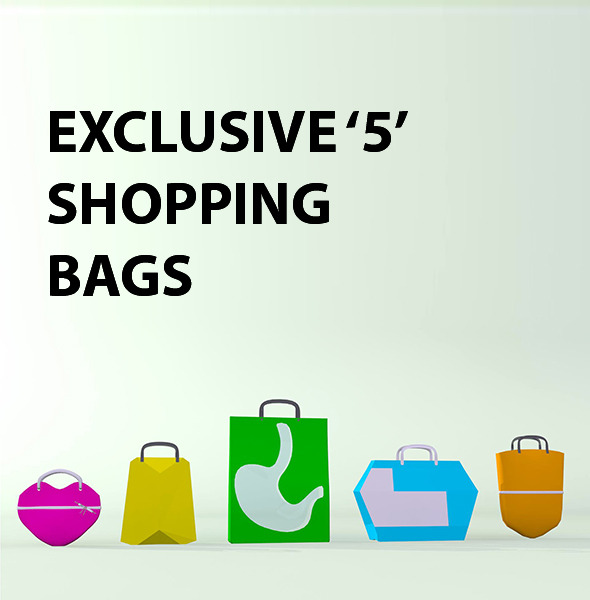 Shopping Bags Package - 3DOcean Item for Sale