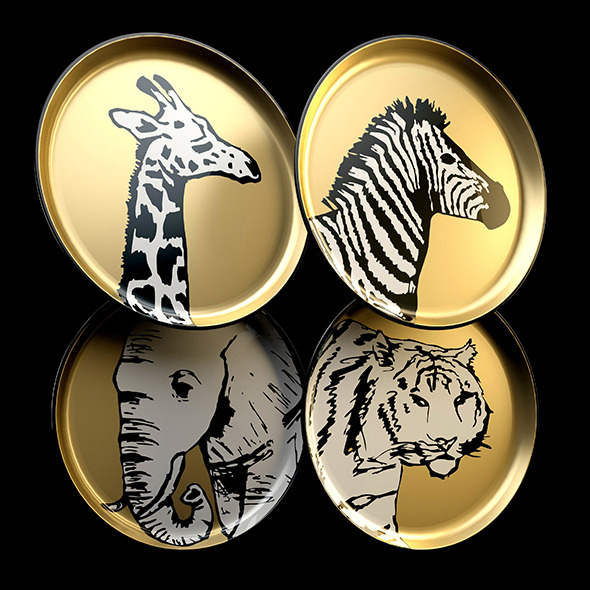 Plates by Jonathan Adler Animalia - 3DOcean Item for Sale