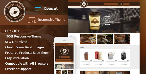 Coffee - Opencart Responsive Theme - Shopping OpenCart