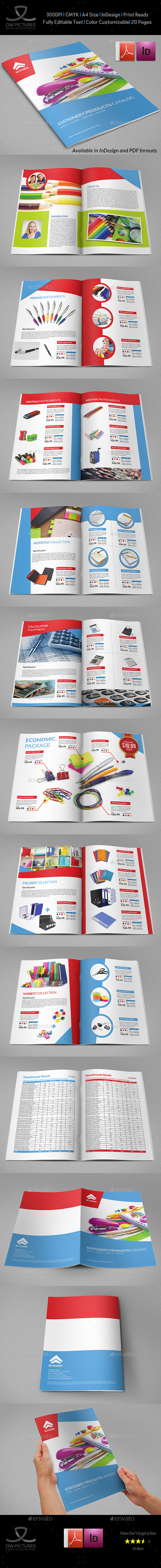 Stationery Products Catalog Brochure - 20 Pages - Catalogs Brochures