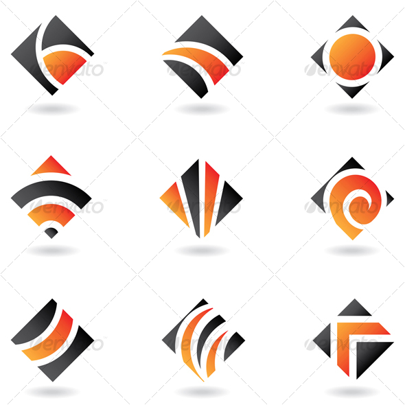 abstract diamond shapes - Abstract Icons