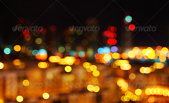 Abstract city lights background - Stock Photo - Images