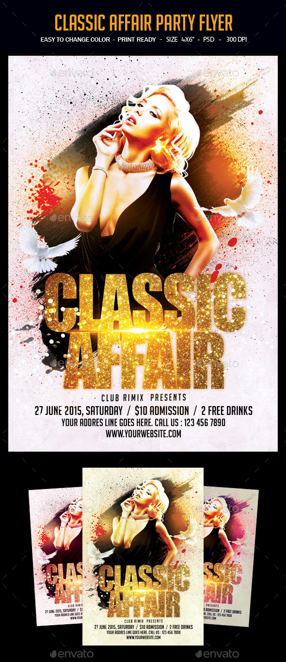 Classic Affair Party Flyer - Clubs & Parties Events