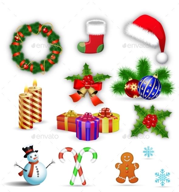 Merry Christmas Design Elements - Christmas Seasons/Holidays