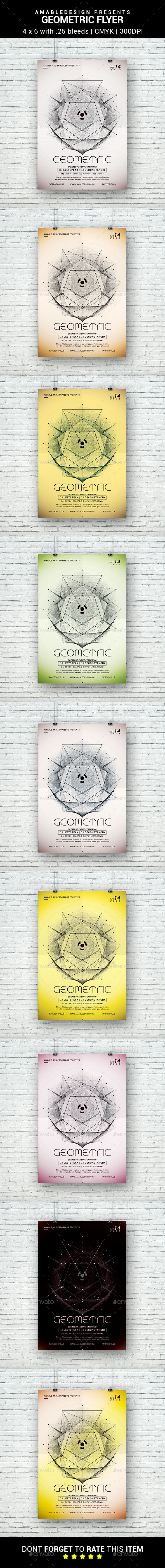 Geometric Flyer - Clubs & Parties Events