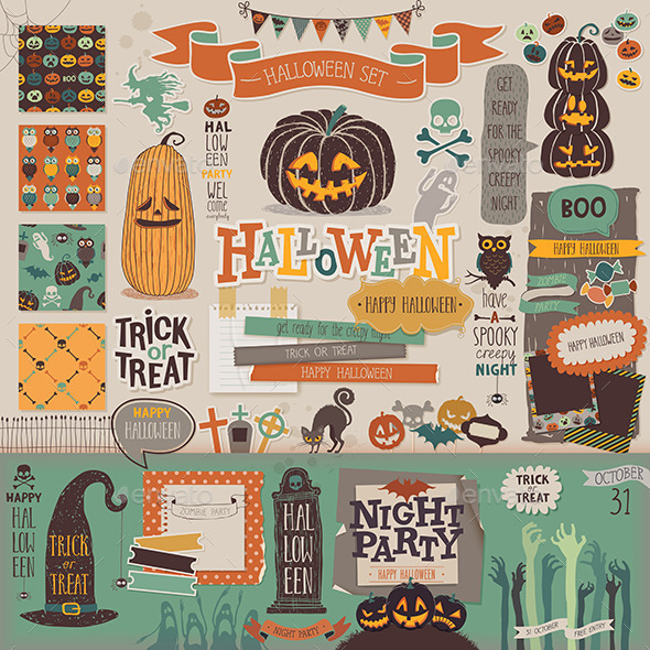 Halloween Scrapbook Set - Halloween Seasons/Holidays