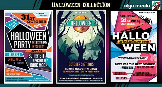 Halloween Flyers & backgrounds