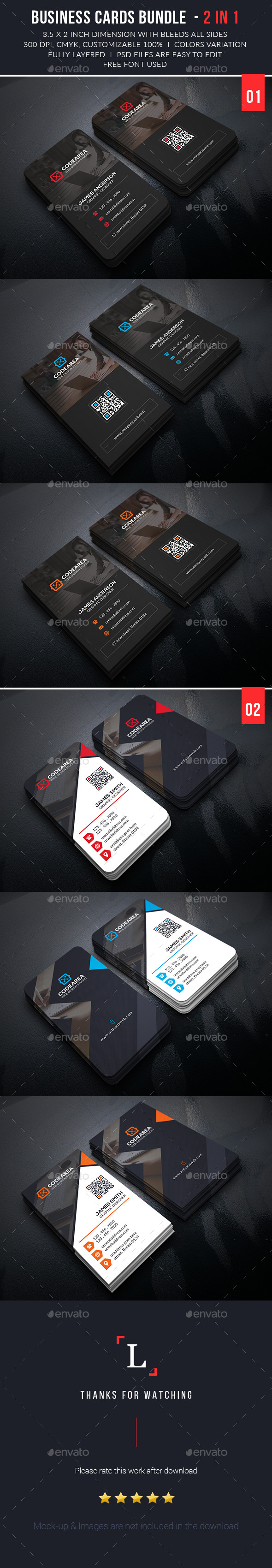 Soft Creative Business Cards Bundle - Business Cards Print Templates