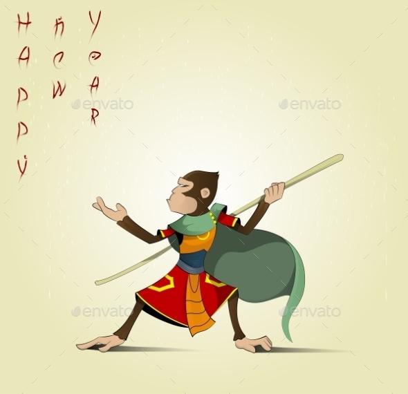 Cartoon Hanuman - New Year Seasons/Holidays