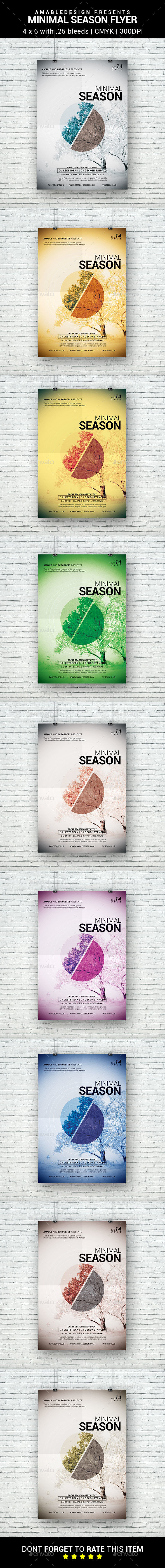Minimal Season Flyer - Clubs & Parties Events