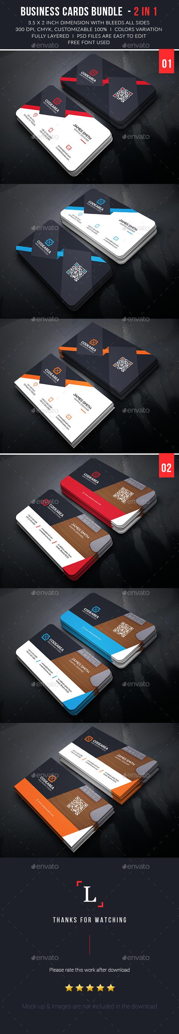 Elegant Business Cards Bundle - Business Cards Print Templates