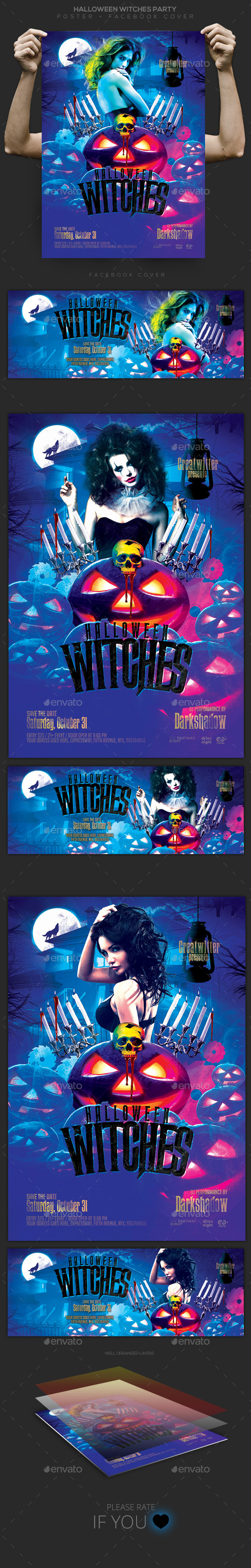 Halloween Night Flyer / Poster / Facebook Cover - Clubs & Parties Events