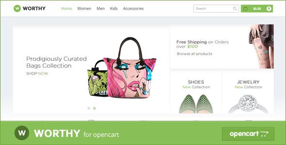 Worthy Responsive OpenCart Theme