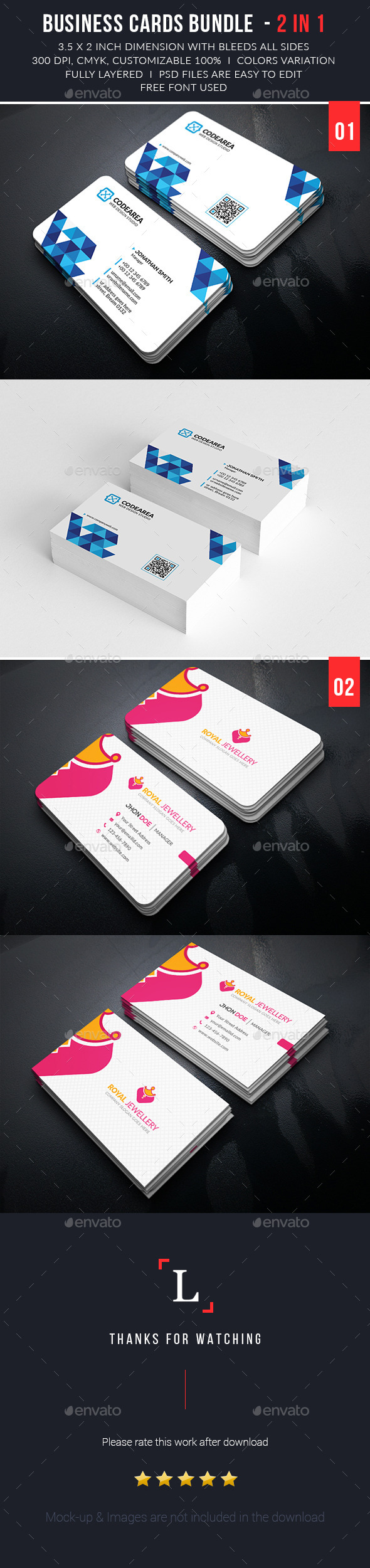 Simply Business Cards Bundle - Business Cards Print Templates