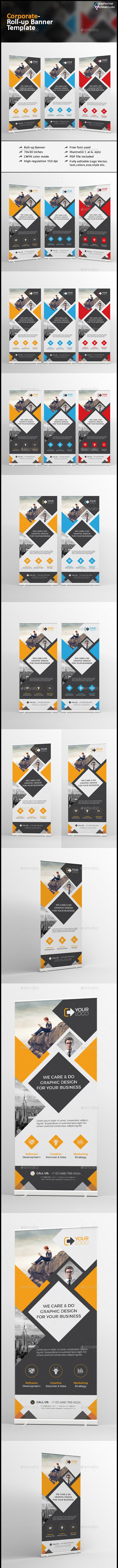 Roll-up Banner-Multipurpose - Signage Print Templates