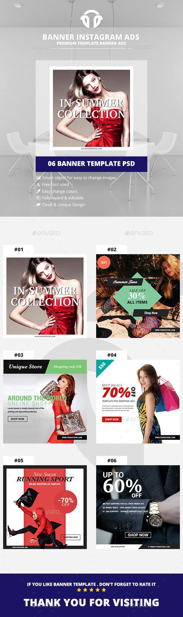 Instagram Ads - Shopping Banners V.02 - Social Media Web Elements