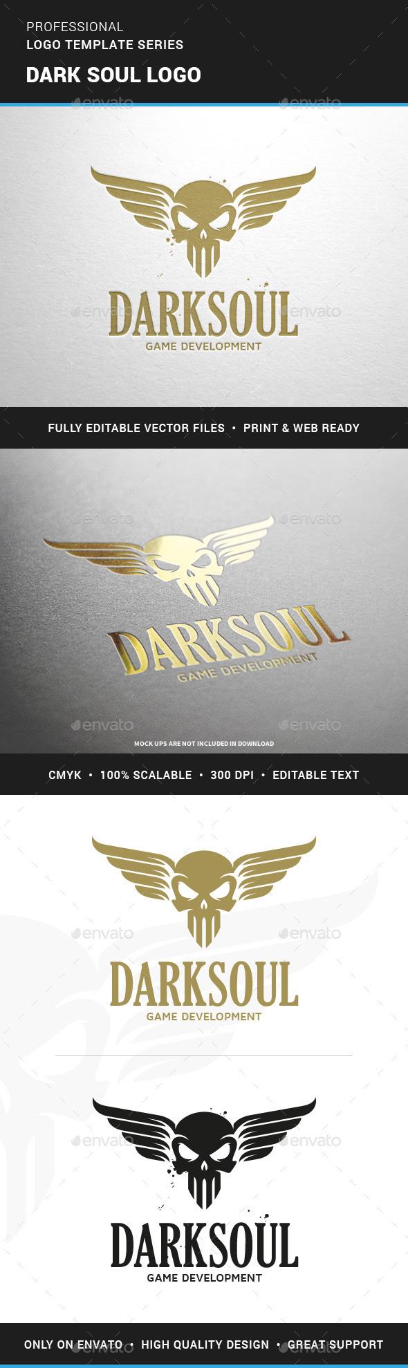 Dark Soul Logo Template - Logo Templates