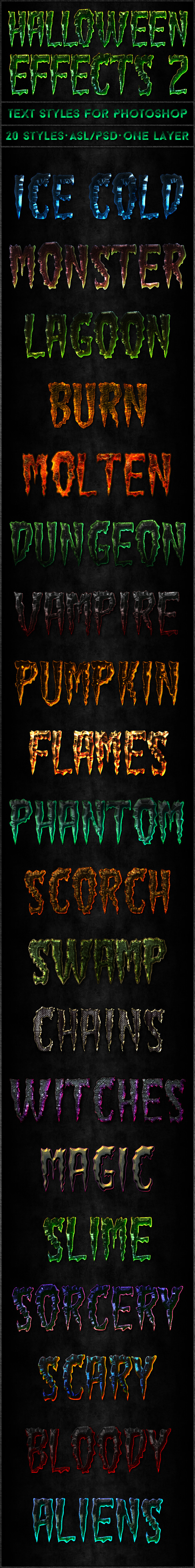 Halloween 2 - Text Styles - Text Effects Styles