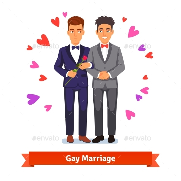 Gay Couple Marriage and Love - Weddings Seasons/Holidays