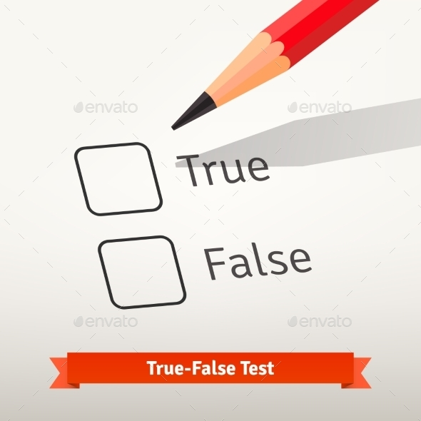 True False Test or Survey - Abstract Conceptual