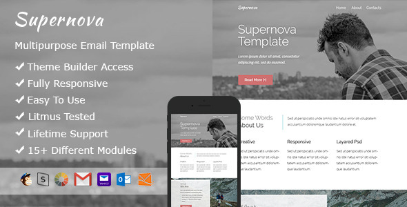 Supernova - Responsive Email + StampReady Builder