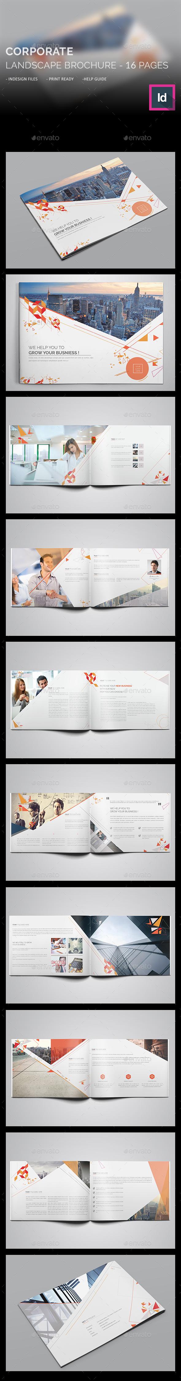 Corporate Landscape Brochure - Brochures Print Templates