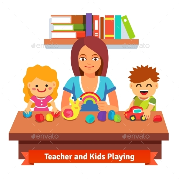 Preschool Learning and Education - People Characters