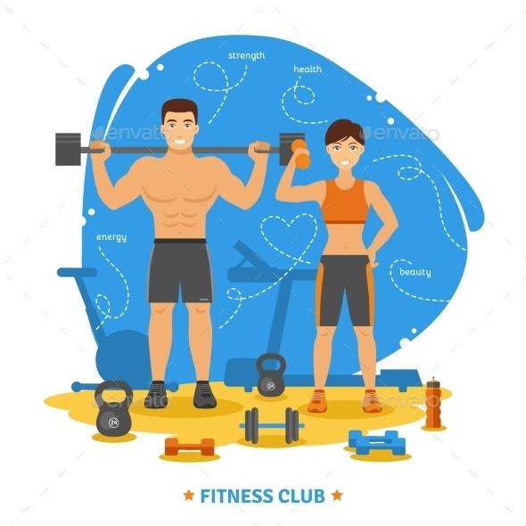Fitness Couple Concept - Sports/Activity Conceptual