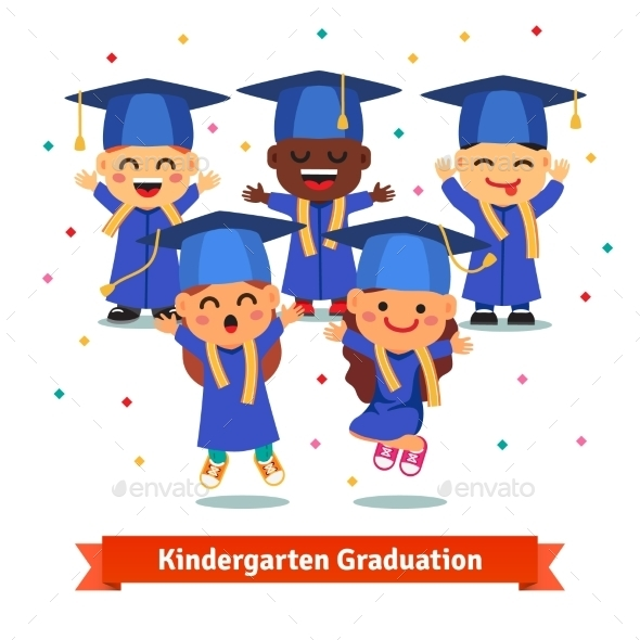 Kindergarten Graduation Party - People Characters