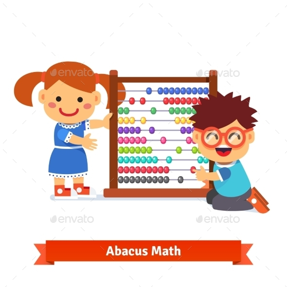 Kids are Learning Math - People Characters