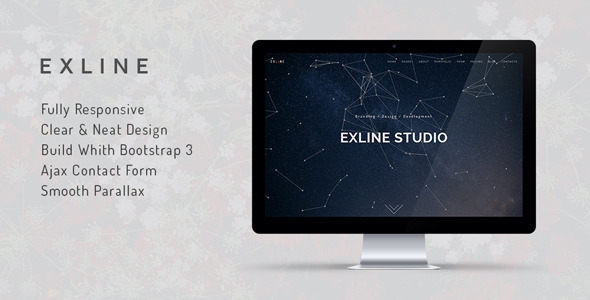 Exline | One Page Parallax Template