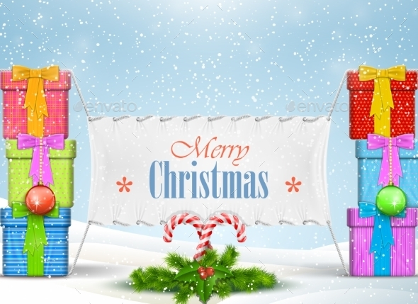 Christmas Banner Illustration - Christmas Seasons/Holidays