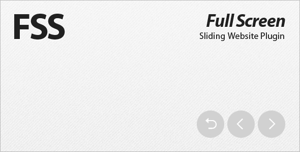 FSS - Full Screen Sliding Website Plugin - CodeCanyon Item for Sale