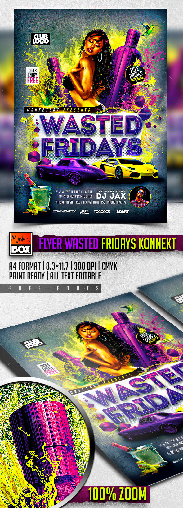 Flyer Wasted Fridays Konnekt - Clubs & Parties Events