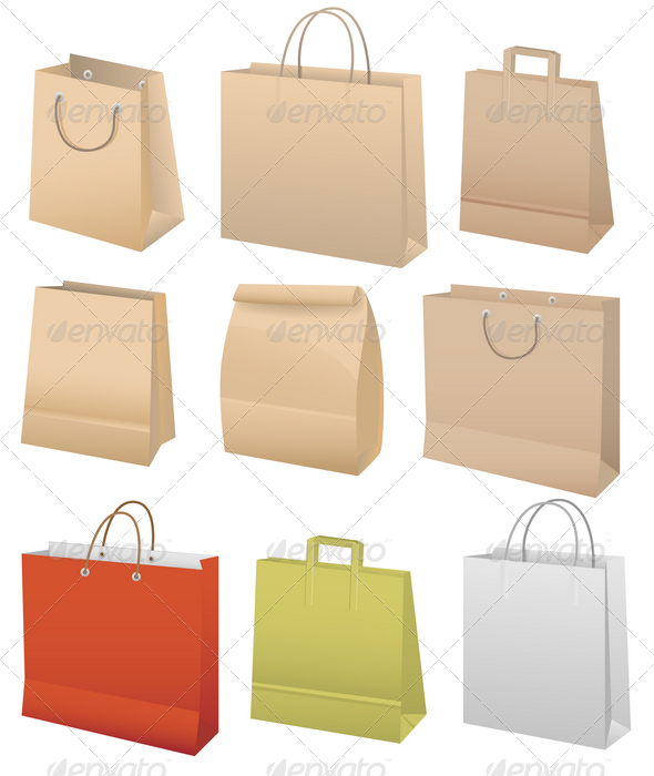 Paper bags - Man-made Objects Objects