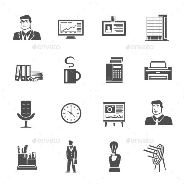 Office Icons Set - Decorative Symbols Decorative