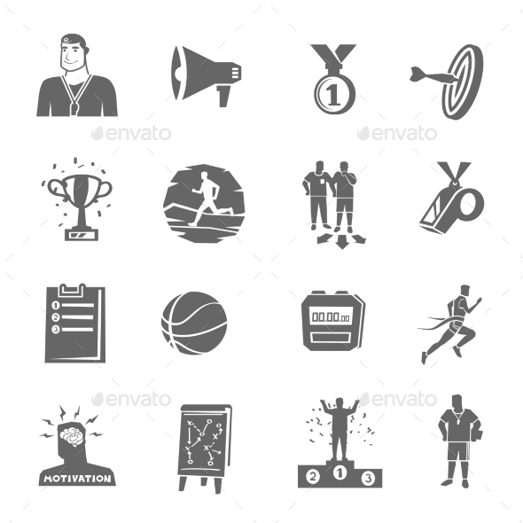 Coaching and Sport Icons Set - Sports/Activity Conceptual