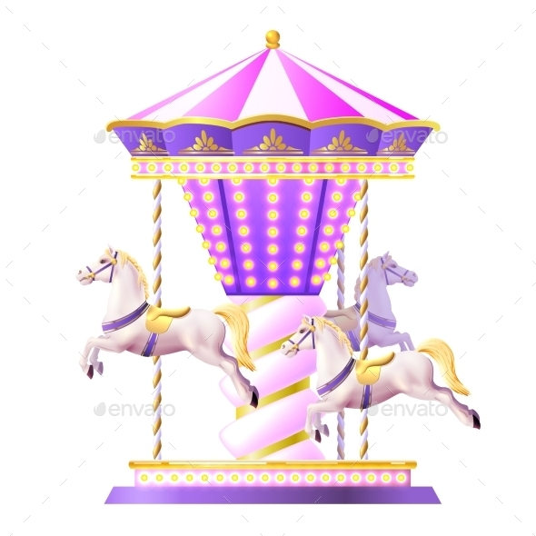 Retro Carousel Illustration - Miscellaneous Vectors