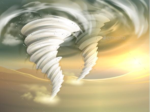 Tornado Swirls Illustration - Landscapes Nature