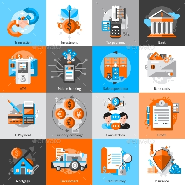 Banking Icons Set - Business Icons