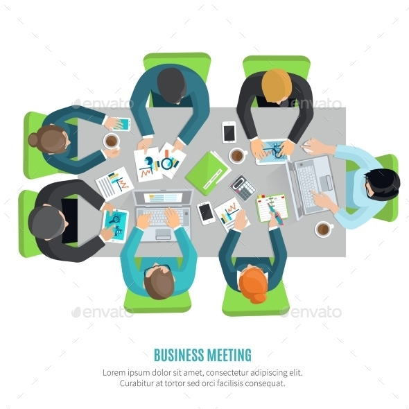 Business Meeting Flat - People Characters