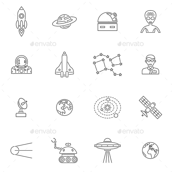 Space Icon Outline - Technology Icons