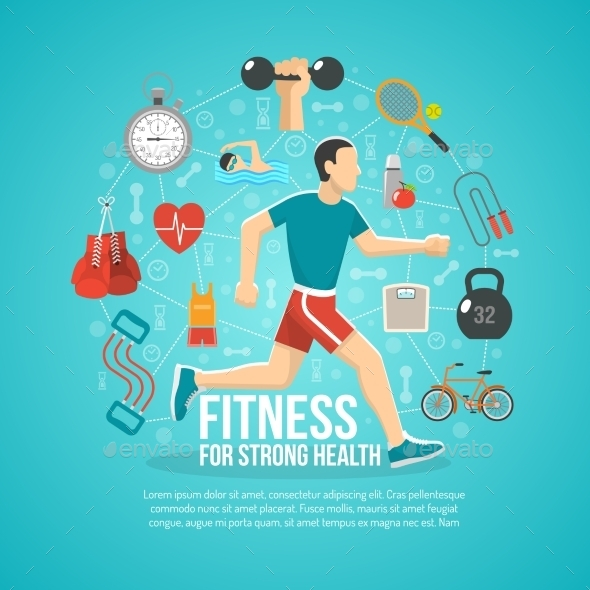 Fitness Concept Illustration - Sports/Activity Conceptual